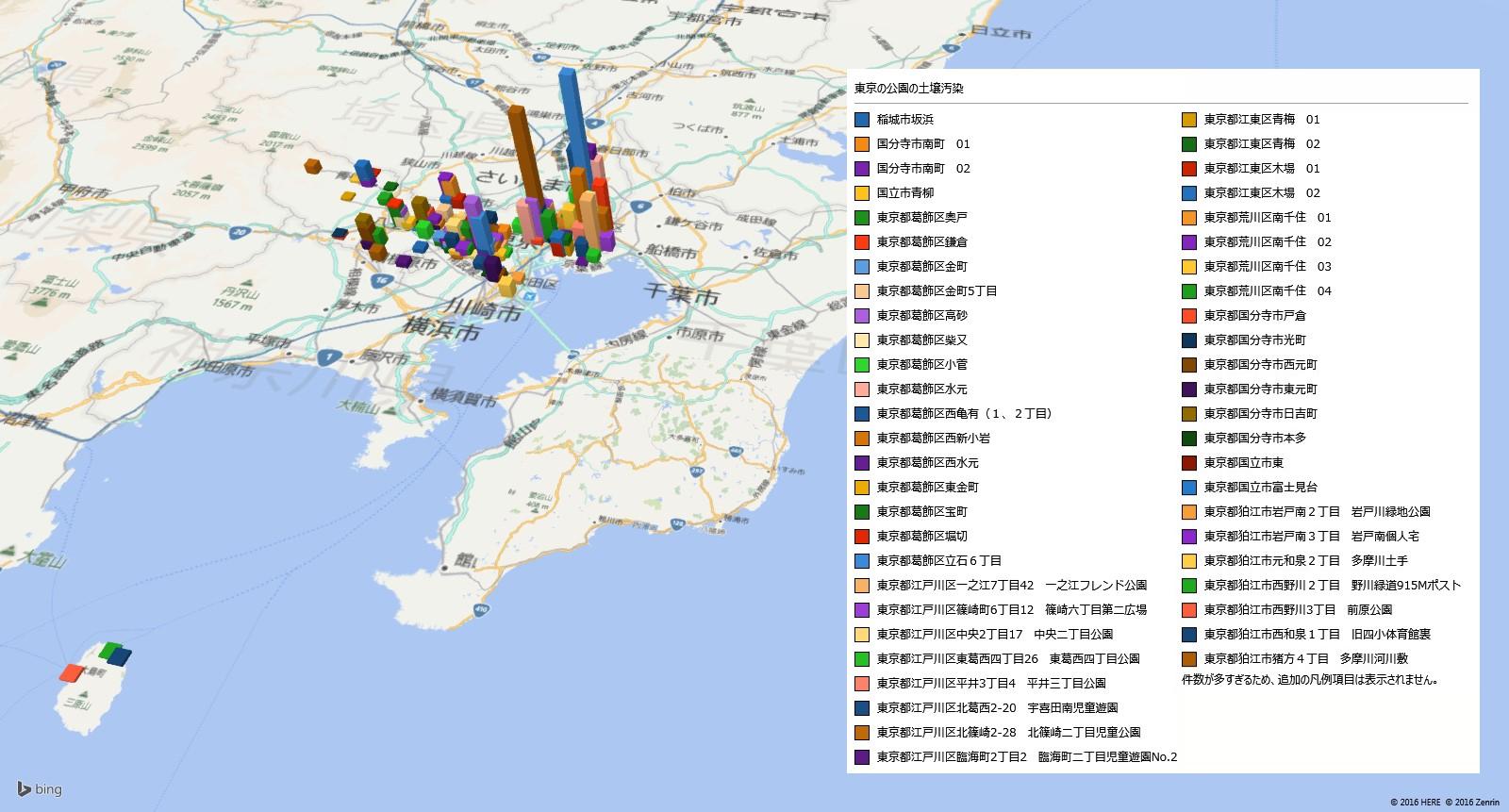 東京の放射能汚染の状況