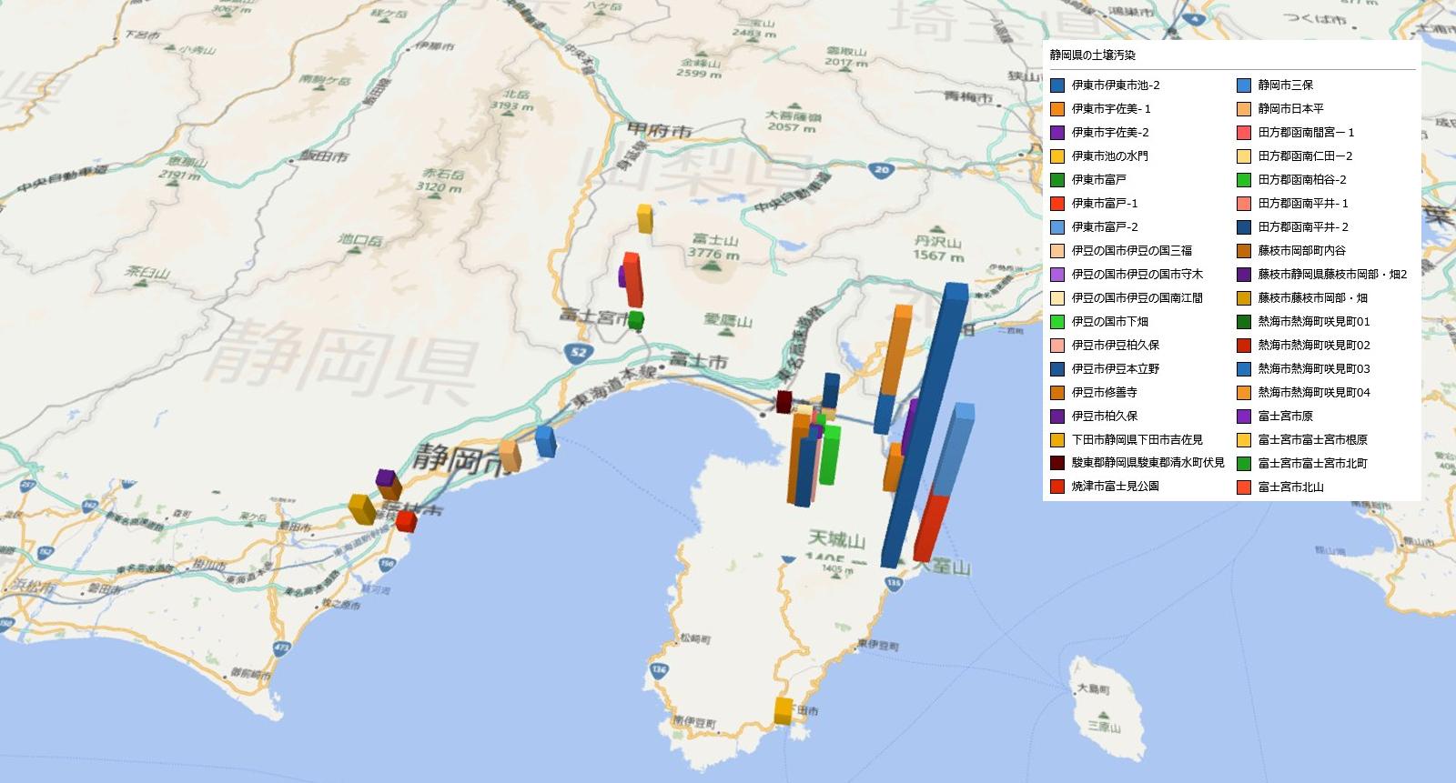 静岡県の放射能汚染の状況
