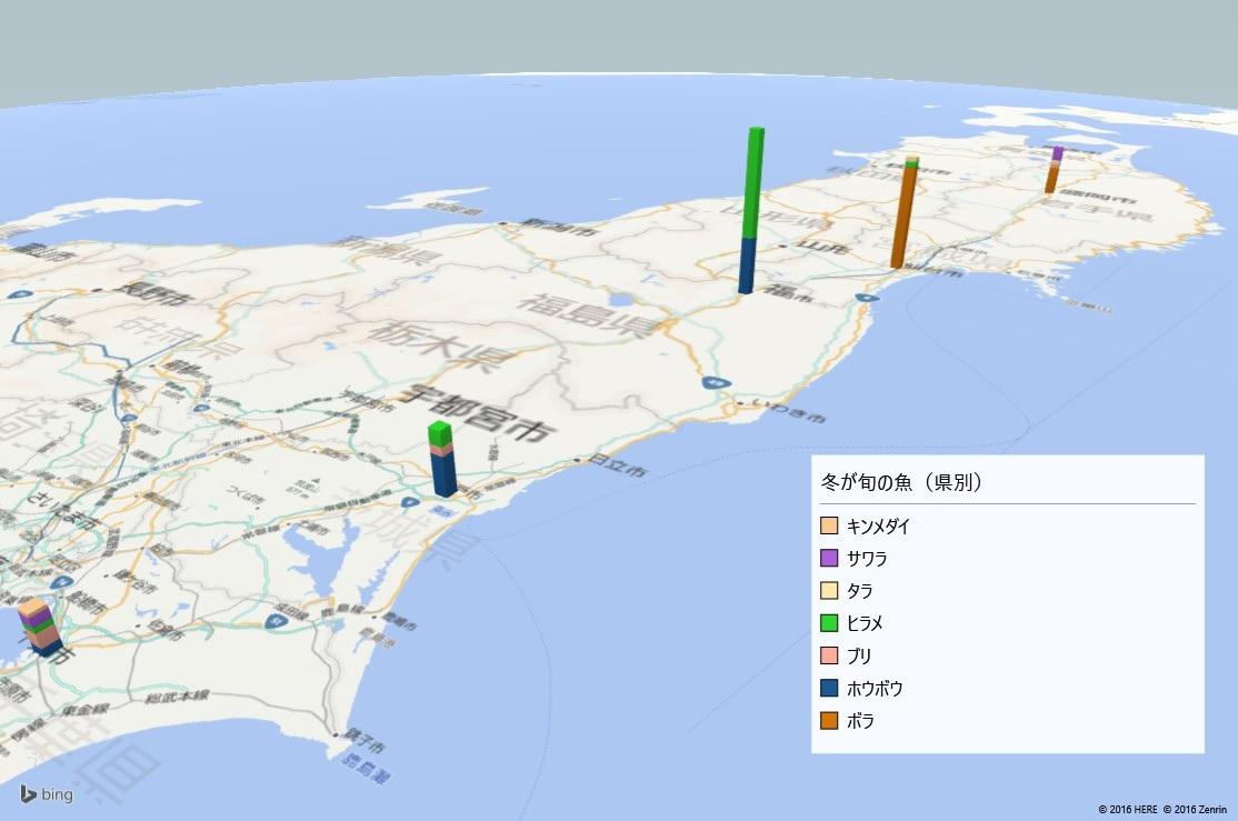 冬が旬の魚の放射能検査地図(都道府県別)