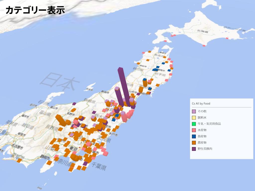 食品の放射能検査地図|カテゴリー表示