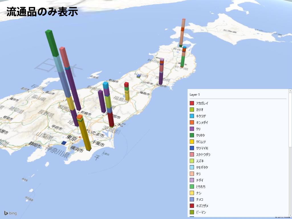 食品の放射能検査地図|流通品のみ表示