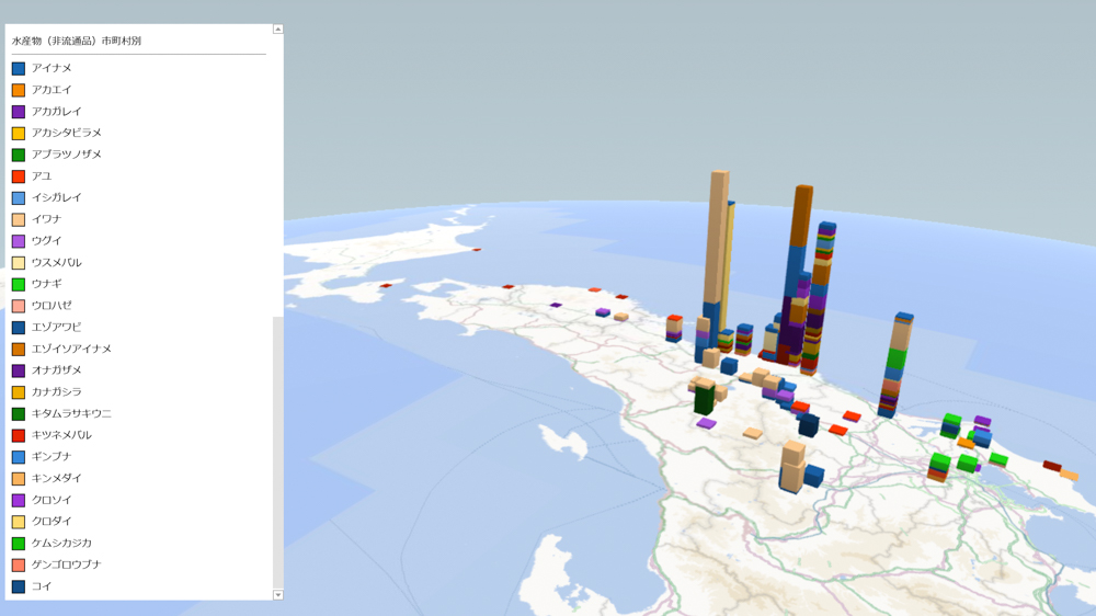 水産物(非流通品)の放射能検査地図(市町村別)