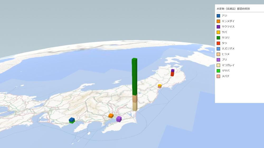水産物(流通品)の放射能検査地図(県別)