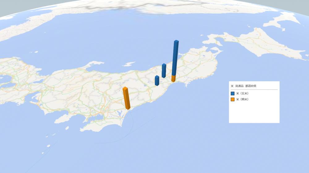 お米(流通品)の放射能検査地図(県別)