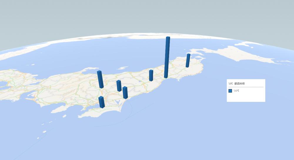 ソバの放射能検査地図(県別)