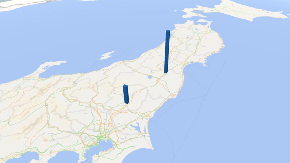 小豆の放射能検査地図(県別)