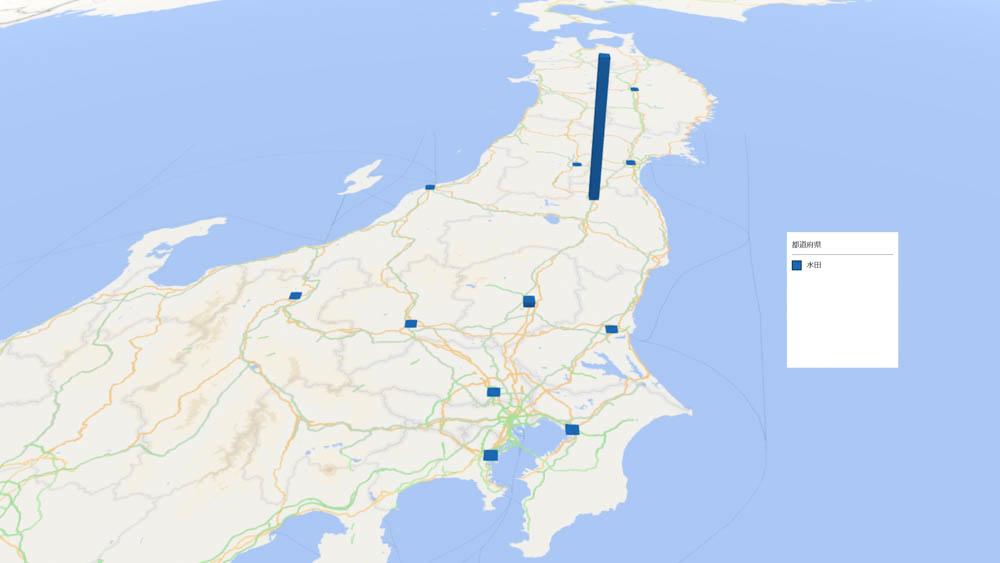 水田の放射能検査地図(県別)