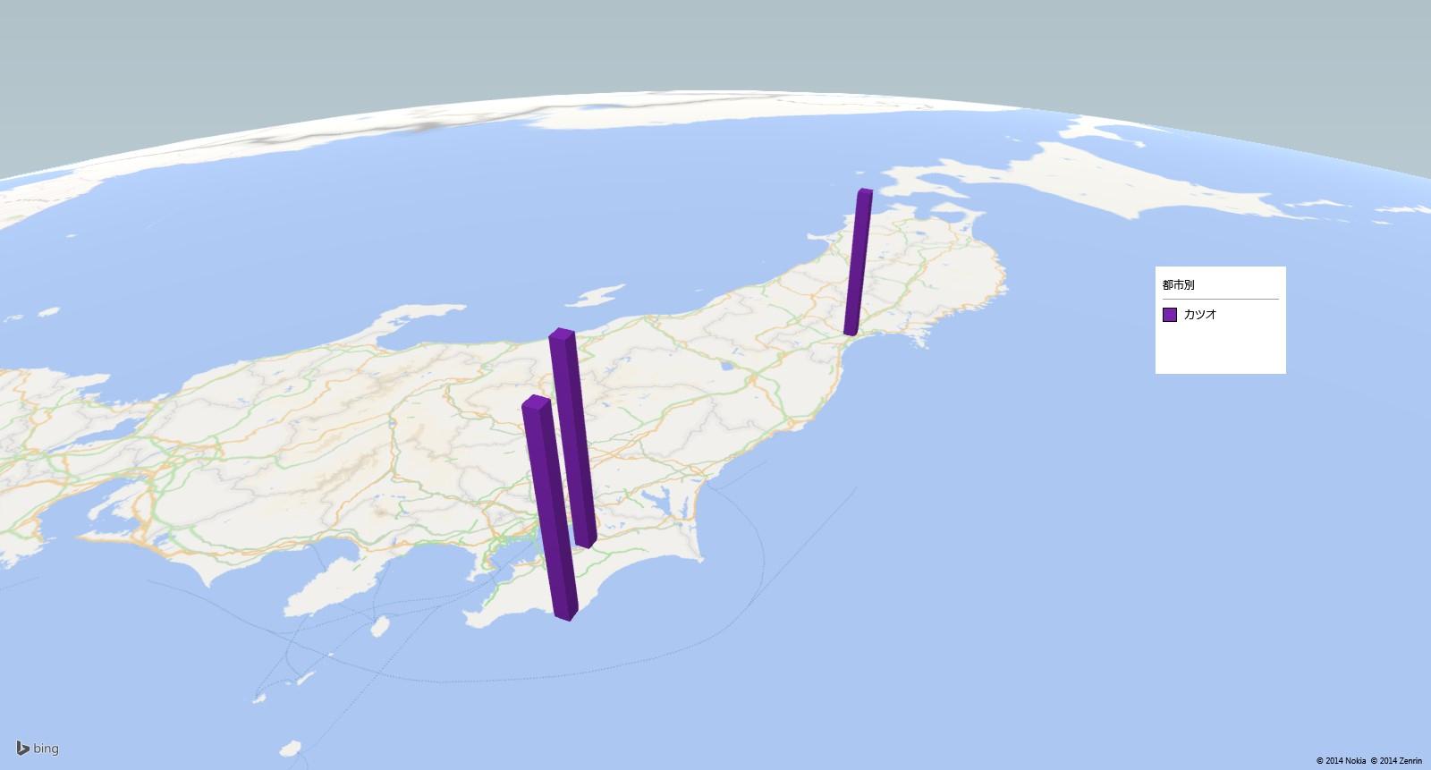 カツオの放射能検査地図(市町村別)