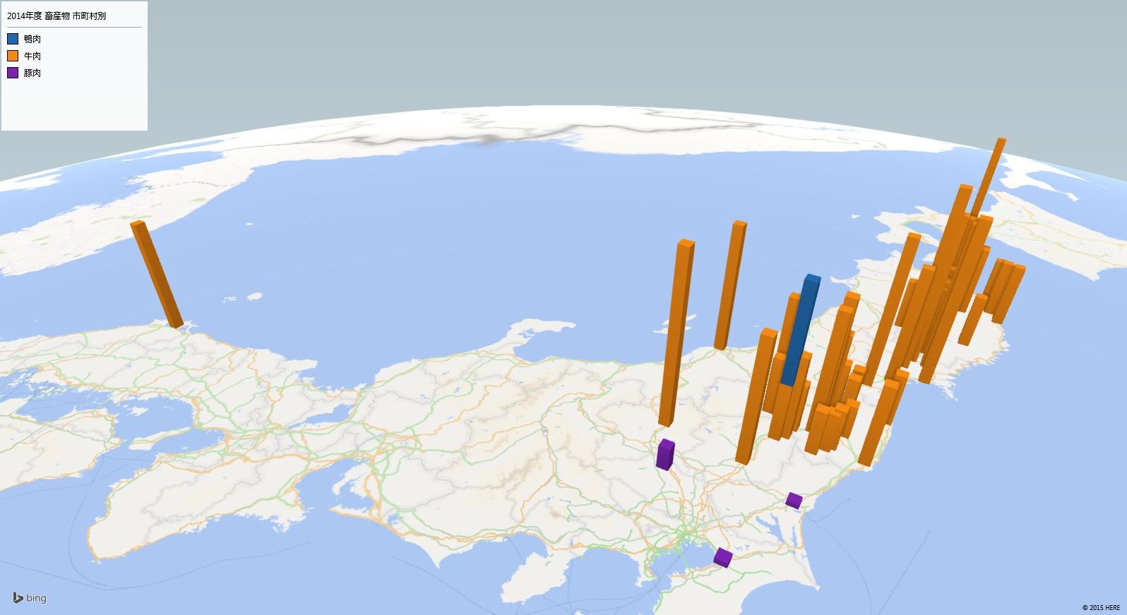 肉の放射能検査地図(市町村別)