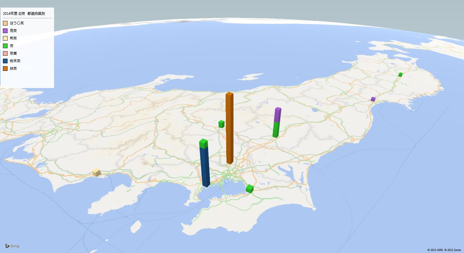 お茶の放射能検査地図(都道府県別)