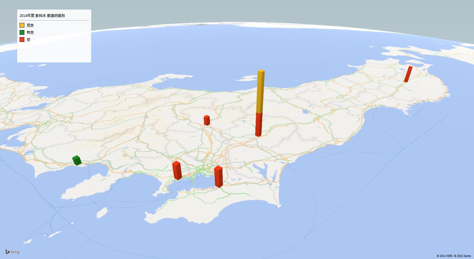ペットボトルのお茶の放射能検査地図(都道府県別)