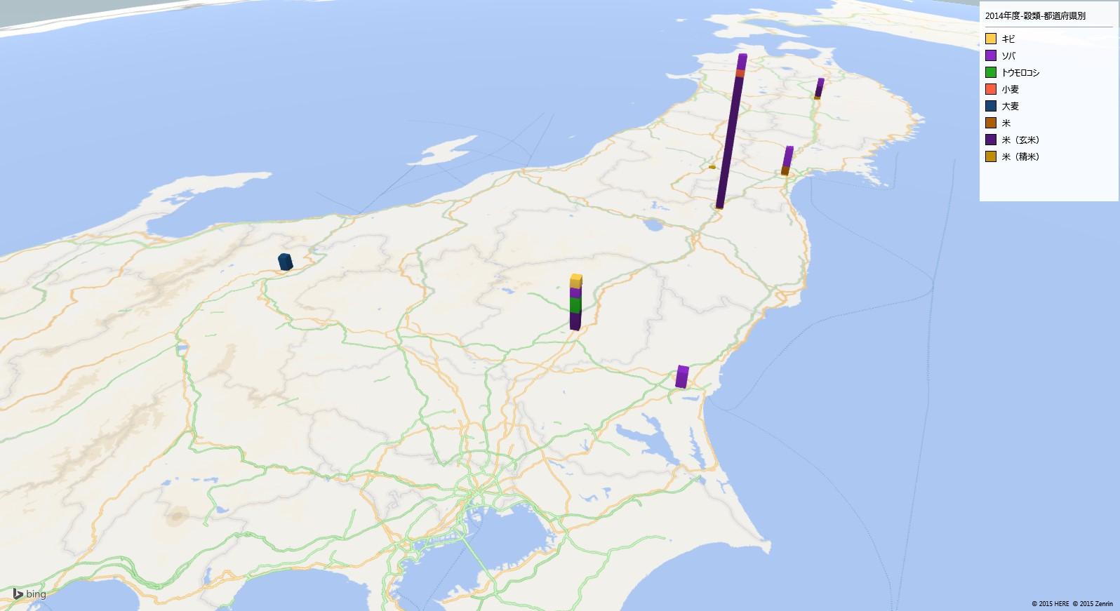 米・穀物の放射能検査地図(都道府県別)